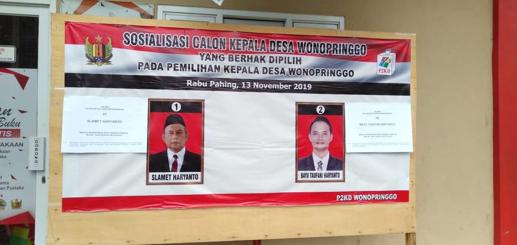 Hasil Pilkades Serentak di Desa Wonopringgo