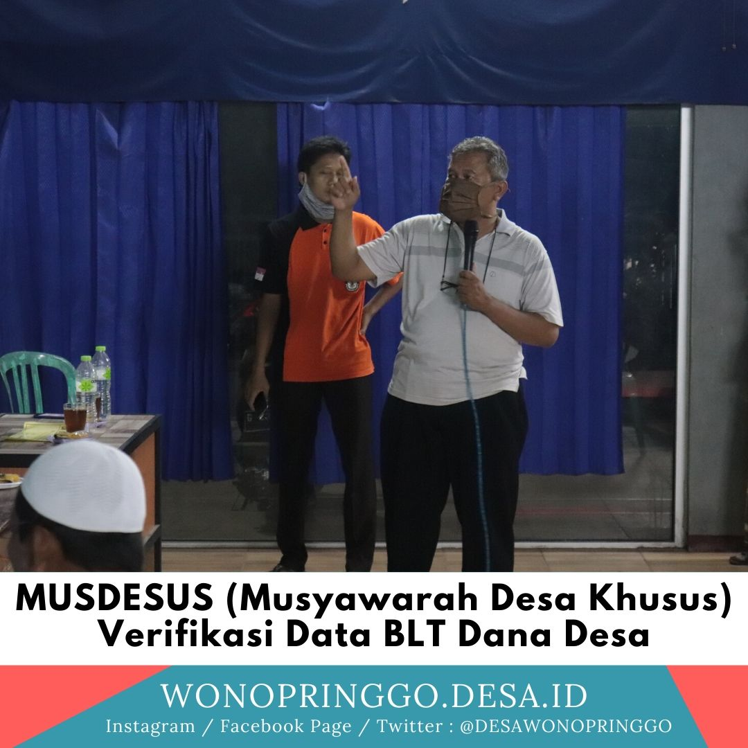 Musdesus Verifikasi Data BLT Dana Desa