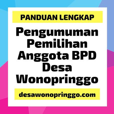 Pengumuman Pemilihan Anggota Badan Permusyawaratan Desa (BPD) Tahun 2019